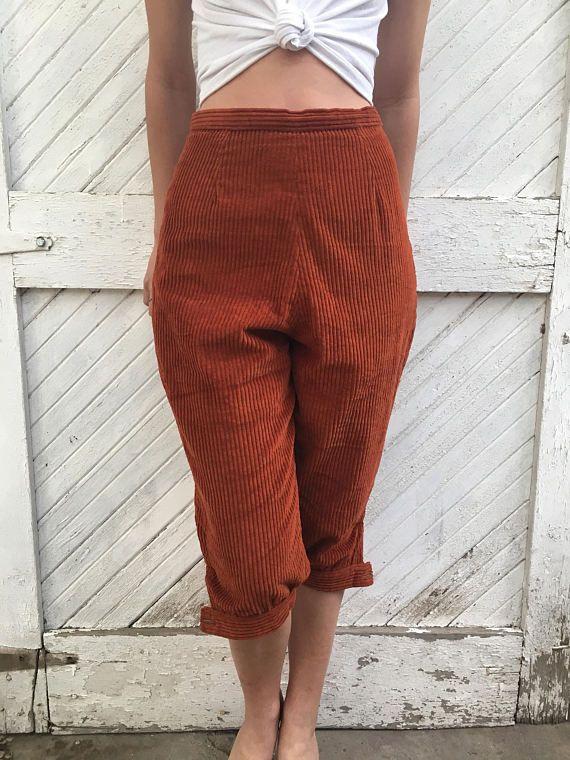Vintage Rust Corduroy Knickers Pants
