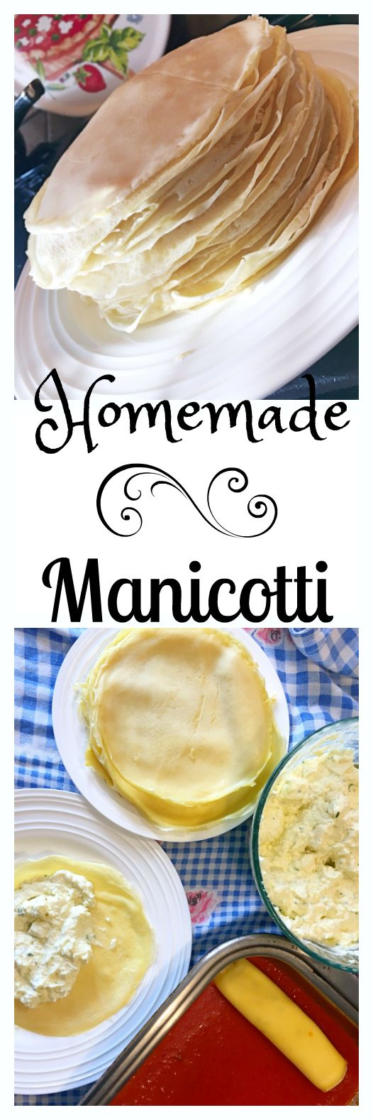 You will love this simple recipe for these Light and fluffy homemade Italian Manicotti filled with a ricotta cheese mixture, baked in a simple san marzano sauce.