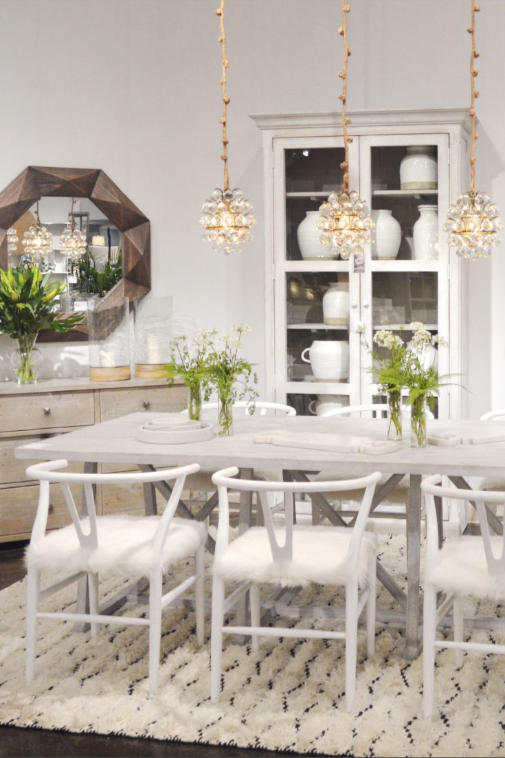 Imagine Having This Pretty Dining Room In Your Home Featured Items Patria Birch Wood Chairs In Antique White Fi Dining Table Unique Furniture Pieces Dining