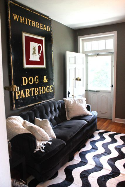MODERN IN MARYLAND: Meredith's Historic Farmhouse Dream. 10/30/2011 via @Apartment Therapy: Meredith S Historic, Historic Farmhouse, Livingroom, Farmhouse Dream, Living Room, Black White, Dream Houses