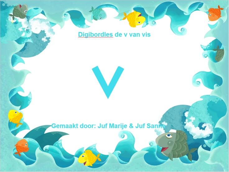 letter v van vis  juf Marije-juf Sanne
