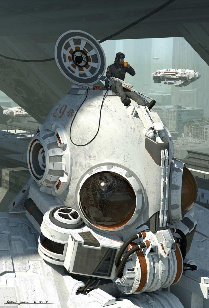Mech/Hangar Concept by Aaron Johnson   Illustration   2D   CGSociety