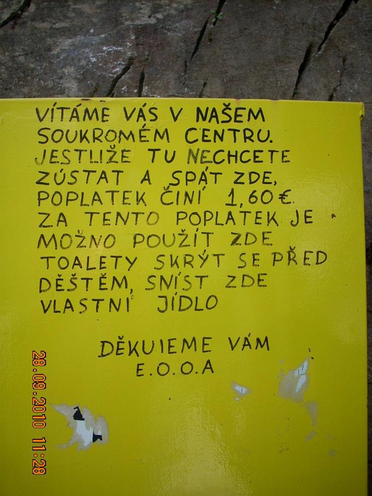 na české turisty jsou zde připraveni :)