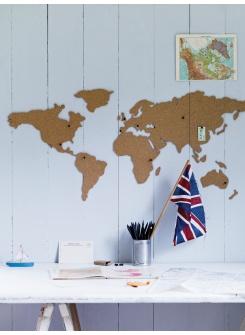 Corkboard World Map  NEW
