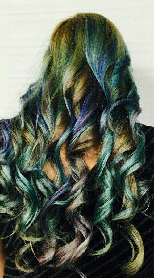 My colorful curls!!!  By Sabra Dupree, Kids Kuts Salon, Marietta, GA