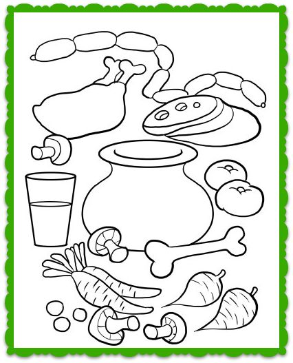 soup and sandwiches coloring pages - photo#31