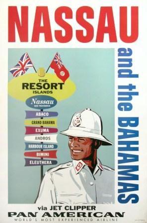 Pan American Airlines Posters   pan am to nassau the bahamas original poster original pan