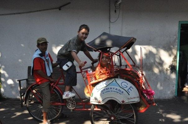 Becak... Javanese Rickshaw