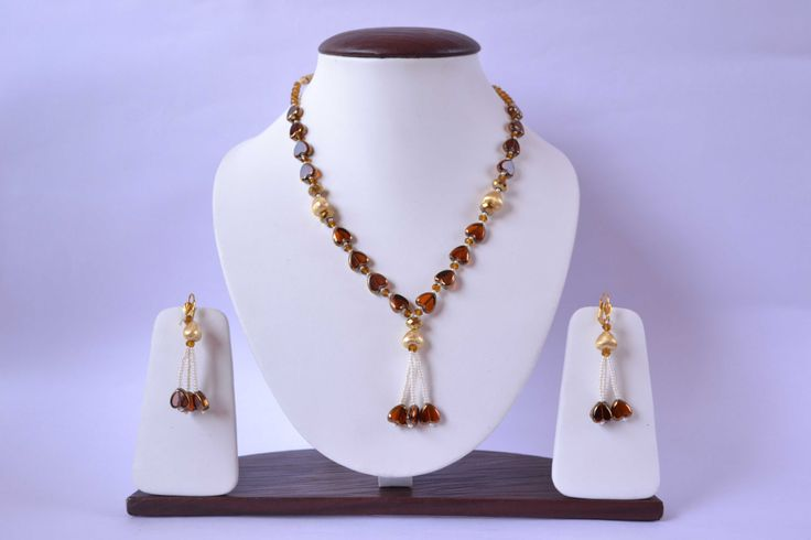 Heart Pearl Necklace Set