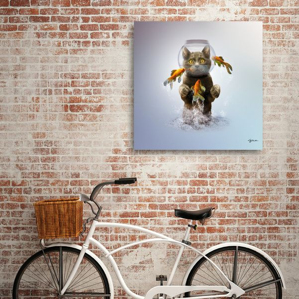 Discover «The Cat», Limited Edition Acrylic Glass Print by Stefania Piredda - Giffyart - From 95€ - Curioos