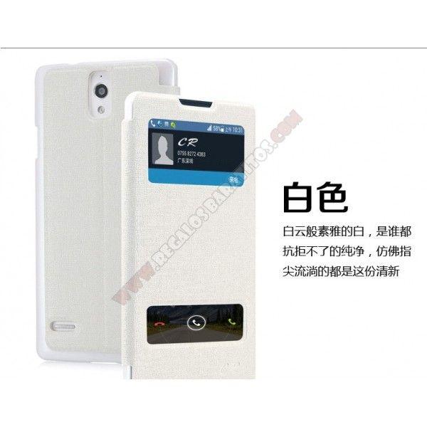Nueva Funda calidad diseño doble ventana para tu Huawei G700
