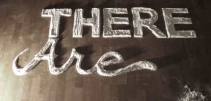 typography: hand type in flour for a design book on Stephan Sagmeister