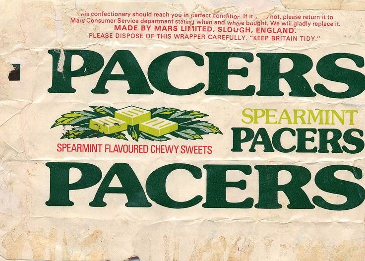 They used to be called Opal mints apparently but then they became Pacers and we all loved them dearly before they were cruelly discontinued.