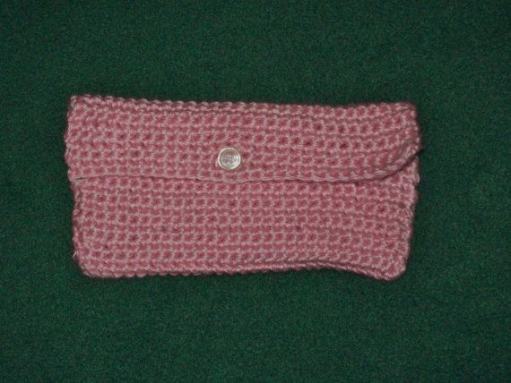 Clutch Makeup BagToiletry Bag Coupon Holder Rose by amydscrochet, $7.00