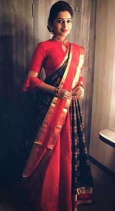 b575b8d48846b8 13 Incredible Collar Blouse Designs You Can Wear With Any Saree ...