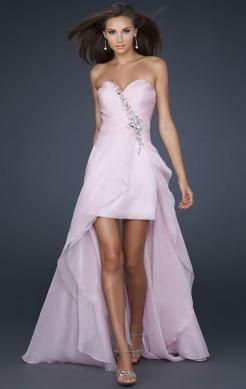 Beautiful High Low Pink Tailor Made Evening Prom Dress (LFNAF0054) http://www.marieprom.co.uk/pink-prom-dresses-uk