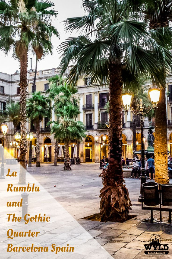 La Rambla  stretches for 1.2 kilometres  in length. From Plaça de Catalunya in the center to the Christopher Columbus Monument at Port Vell.