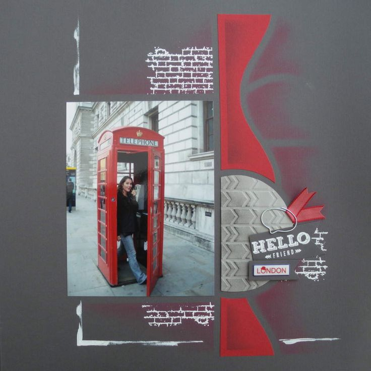 Red Telephone Box layout by Celine