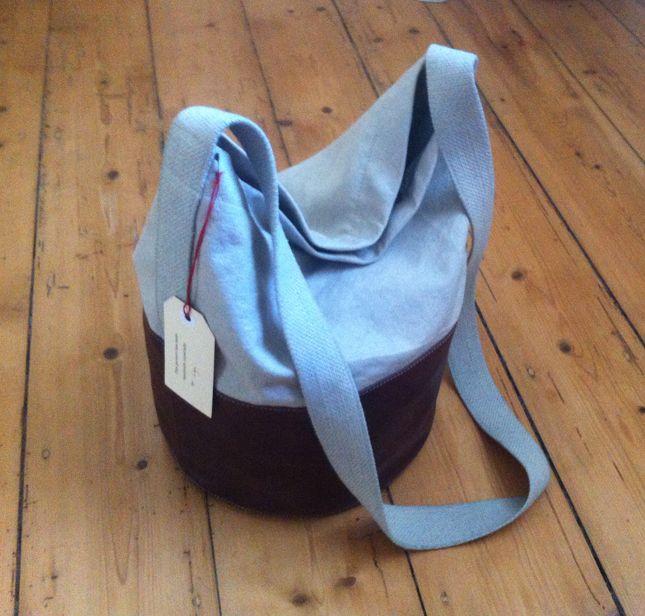 Canvas and Leather Bucket Bag #Ascendant #Ascendantstore