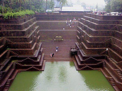 Stepwell, Peralassery Sri Subrahmanya temple, Mundallur (near Kannur), Kerala, India.