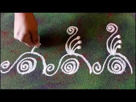 Very Easy Door Border Rangoli Video 5 | #रंगोली #बॉर्डर Door Border Rangoli Designs Video on