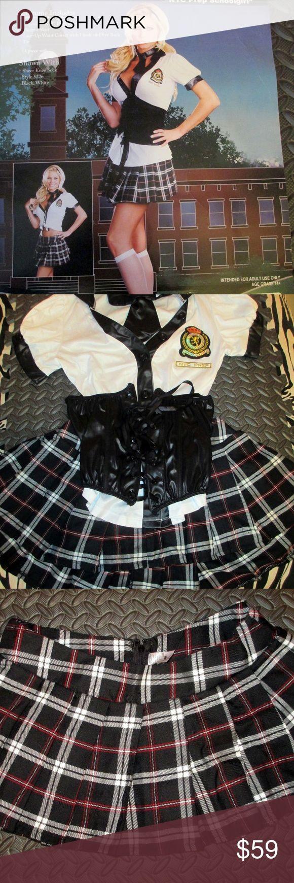 "Sexy School Girl Costume Holloween Roleplay womens SEXY SCHOOL GIRL COSTUME/ROLEPLAY BY DREAMGIRL ""NYC PREP SCHOOLGIRL"" SIZE SMALL DREAMGIRL Skirts Mini"