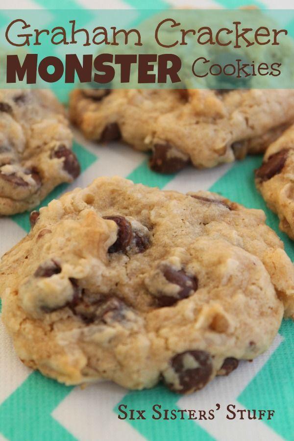 Graham Cracker Monster Cookies