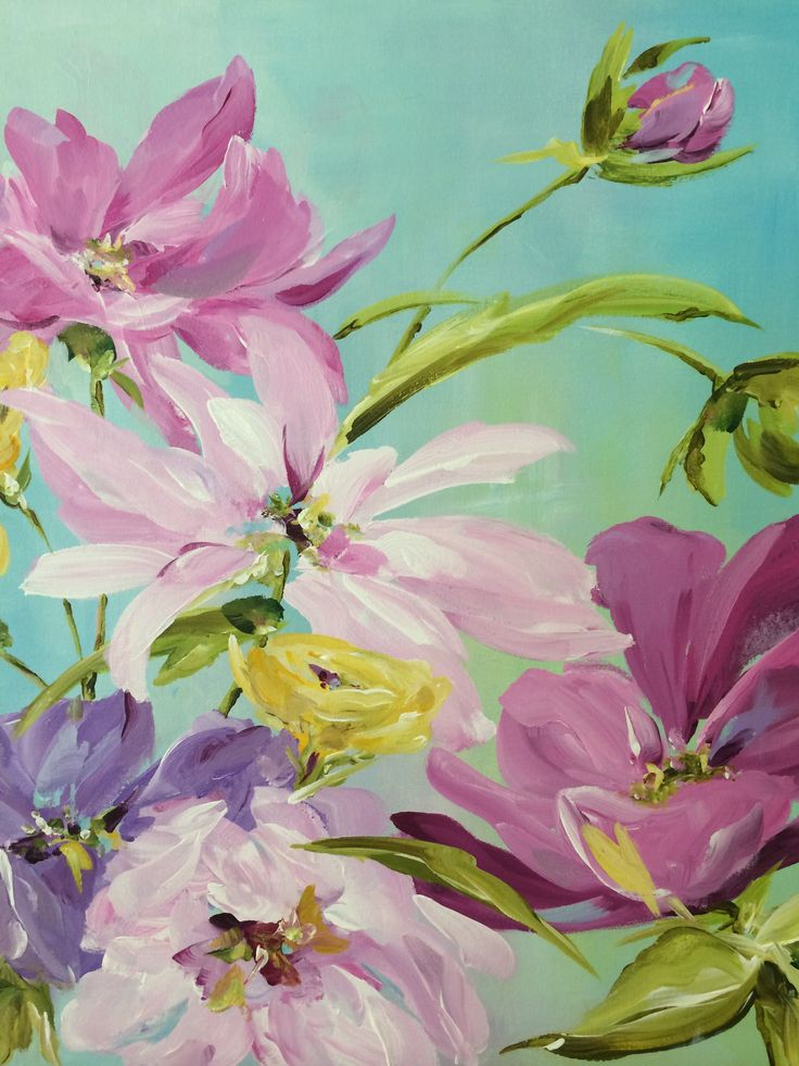 Purple Garden  - acrylic painting by Susan Pepe