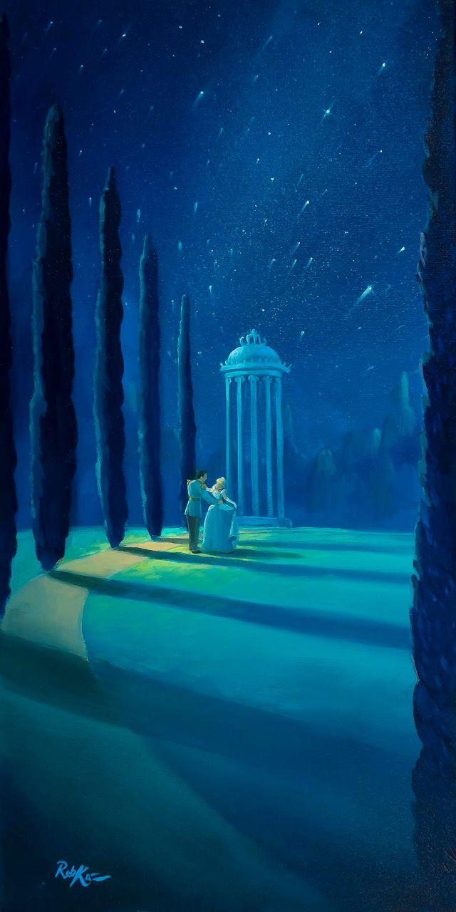 Rob Kaz Art Moonlight Dance 30x15 Disney Paintings