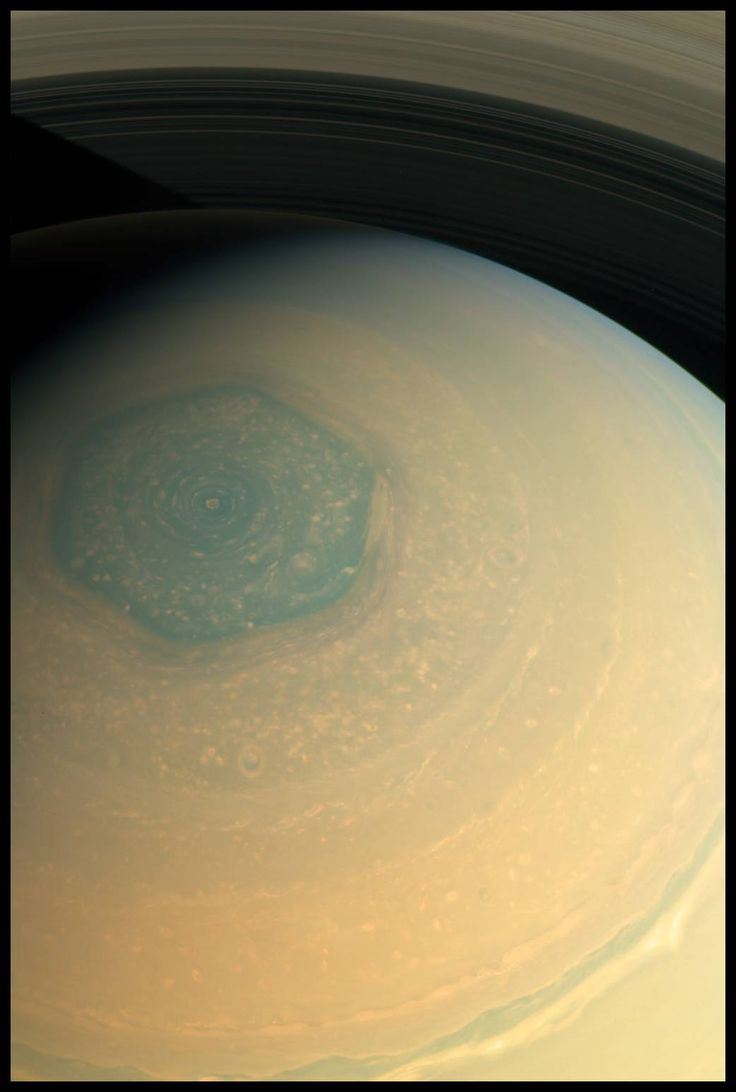 Hexagon at the pole of Saturn || What causes straight lines on a curved surface like that?