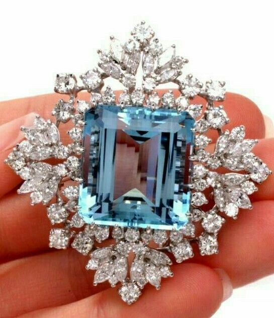 Aquamarine and Diamonds