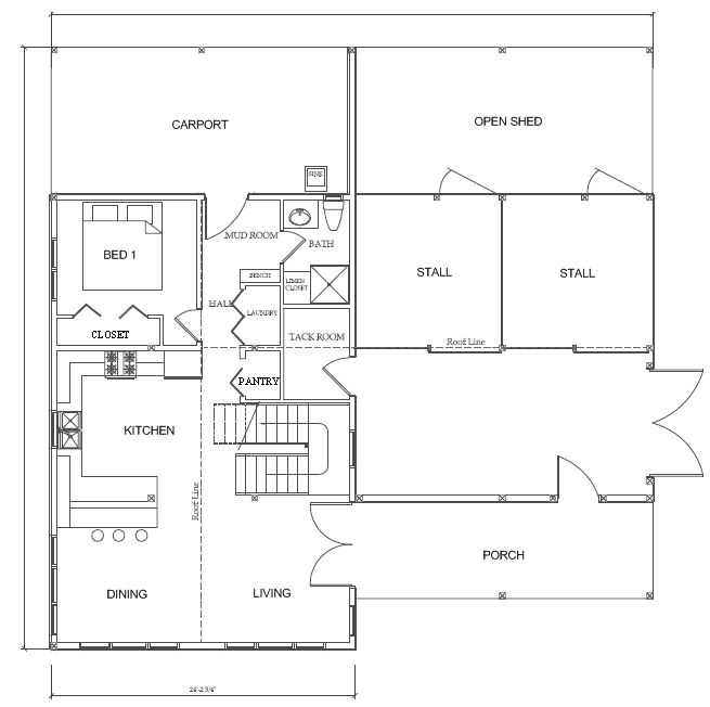 House And Barn Combination Plans