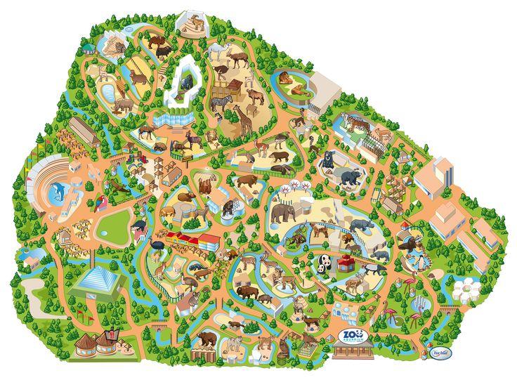 Mapa del Zoo Aquarium de Madrid Zoo map