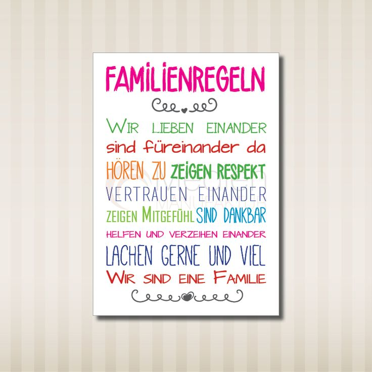 1000 images about familienregeln on pinterest deko for Sprüche poster