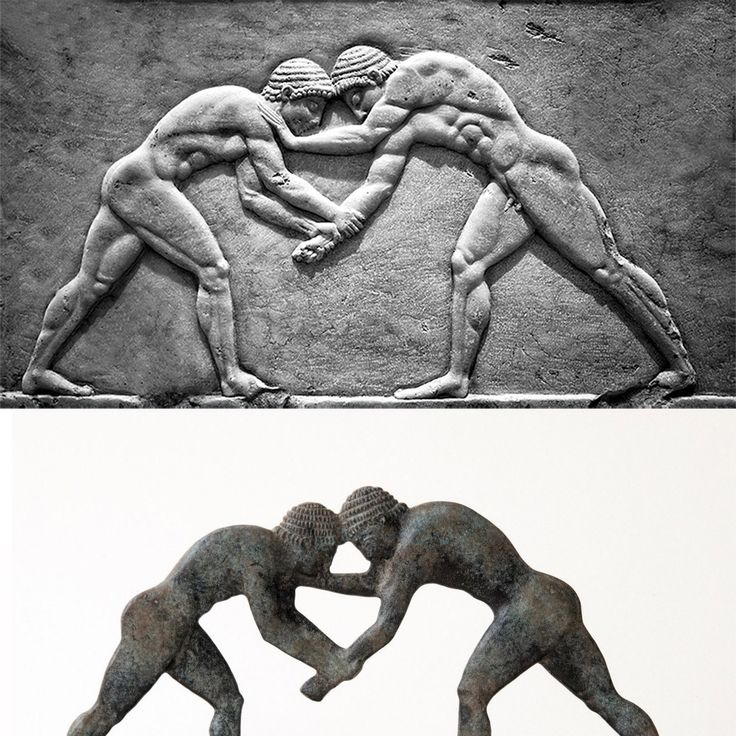 Olympic Games, Ancient Greek wrestlers
