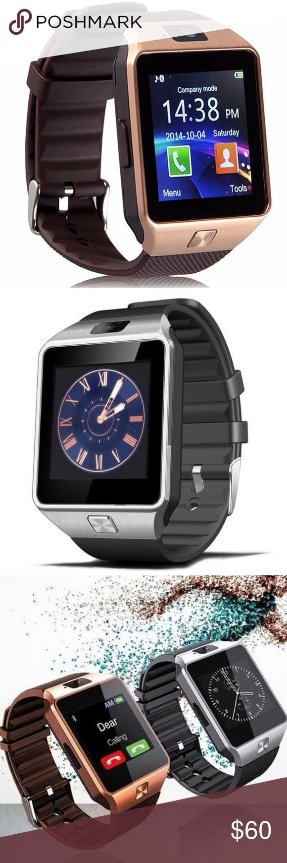 DZ09 Smartwatch for Android and iPhone Bluetooth Both colors still available. Beautiful smart watch - fully functional. Great for tracking sleep and exercise. Call or text straight from your watch! Brand new in original box. Please let me know what color you prefer when ordering. Accessories Watches
