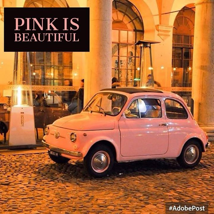 Pink is beautiful! #fiat500 #fiat500nelmondo #cinquecento #pink
