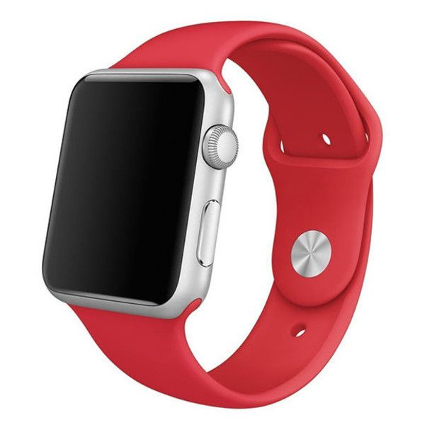 Replacement Silicone Wrist Bracelet Band for Apple watch series 1/2 ($6.59) ❤ liked on Polyvore featuring jewelry, watches, jewelry & watches, red, apple jewelry, silicone watches, red watches, unisex watches and apple wrist watch