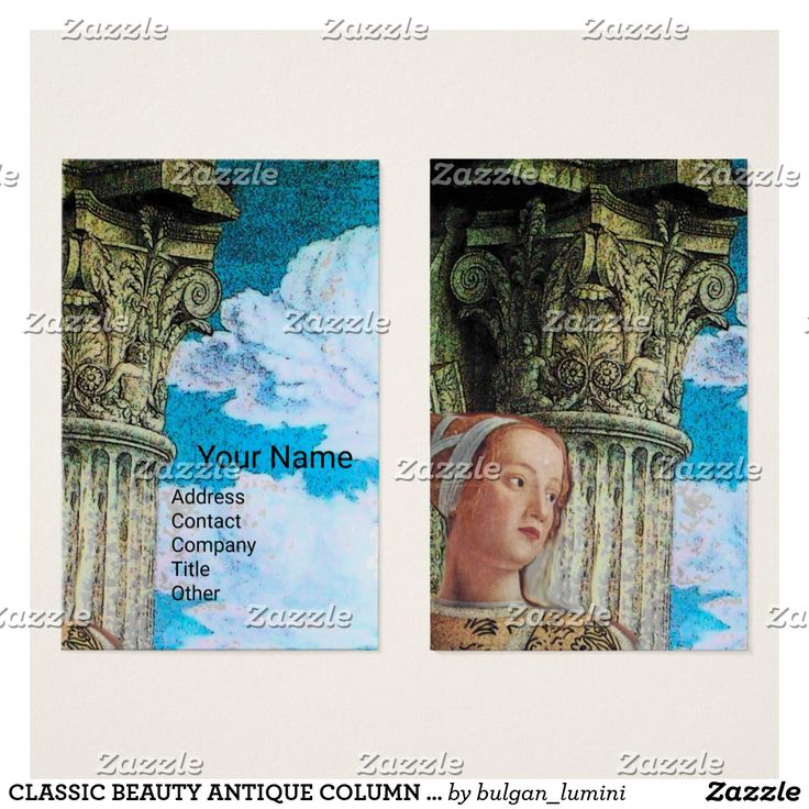 CLASSIC BEAUTY ANTIQUE COLUMN Archaeologist Blue Business Card #archeology #fineart #antiquary #architecture