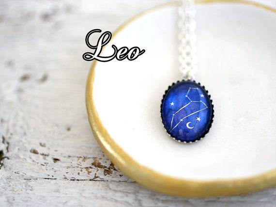 Leo, Leo Necklace, Leo Constellation, Leo Zodiac Sign, Leo Zodiac Constellation, Leo Zodiac, Birthday Necklace, Leo Birthday Necklace