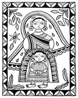 Indian Folk Designs: ~ Folk Designs from Bihar ~
