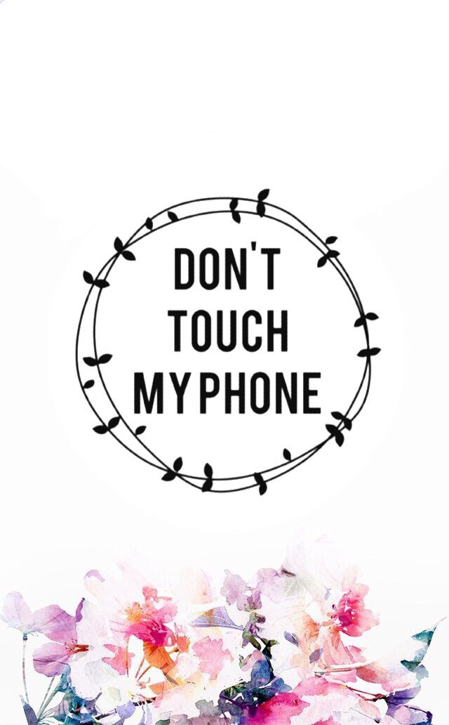 iPhone iPod Wallpaper don't touch my iPhone