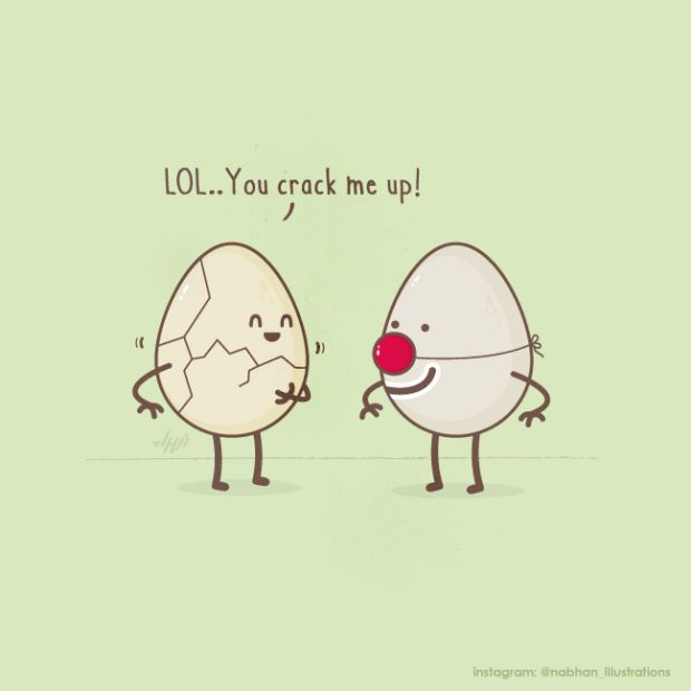 crack me up 620x620 Amusing Puns in Illustrations by Nabhan Abdullatif