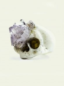 SKULL WITH AMETHYST GROWTH RING | MACABRE GADGETS | NOT JUST A LABEL
