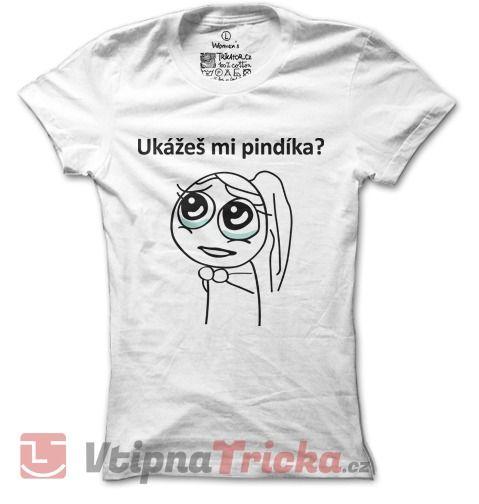Pánské tričko pro zvědavce! Ukážeš mi pindíka? | VtipnaTricka.cz http://www.vtipnatricka.cz/panske-tricko-pro-zvedavce-ukazes-mi-pindika/