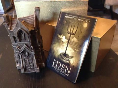 Aren't they gorgeous? Alessandro Manzetti's poetry collection next to his Bram Stoker award. Only 99c: http://getbook.at/AmazonEden
