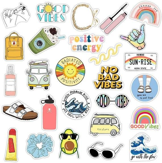 Vsco Stickers For Hydro Flask Stickers 35 Packcute Water Etsy In 2021 Cool Stickers Sticker Graffiti Aesthetic Stickers