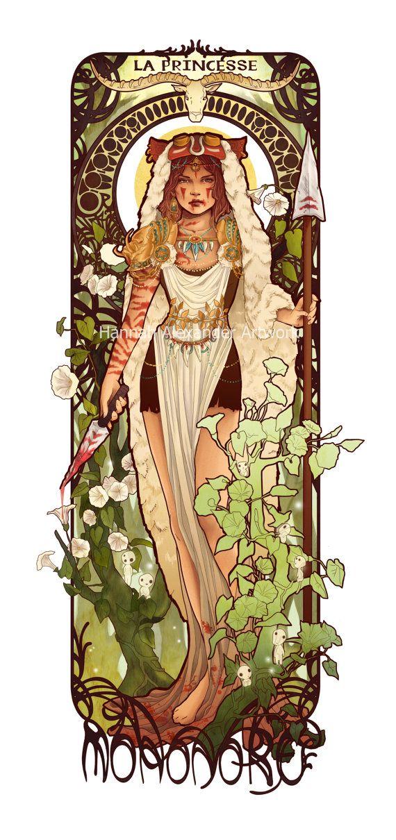 Princesse Mononoke Art Print