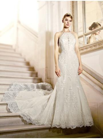kostel krajkové svatební svatební šaty