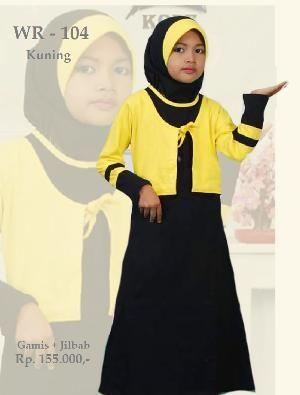 Baju Gamis Anak Perempuan WRK-104 Kuning